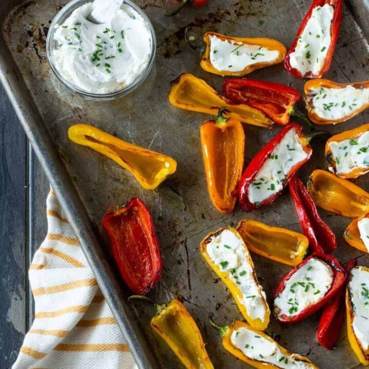 f360684dba2e Grilled Peppers with Goat Cheese - Garnish with Lemon