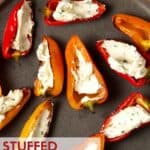 peppers on plate with cheese.