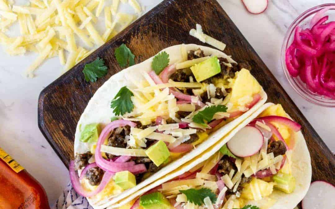 Make your own Breakfast Taco Bar for a Crowd