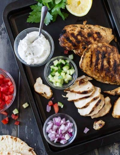 Easy Grilled Chicken Gyros