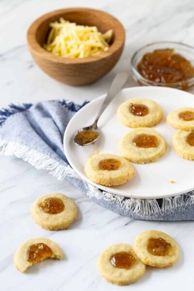 Savory Shortbread Bites with Fig Jam