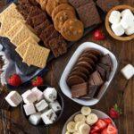 ingredients for a DIY Dessert S'mores Station.