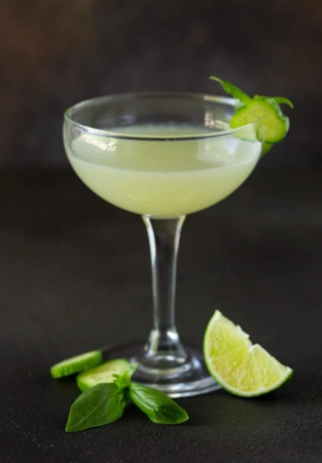 Cucumber Basil Vodka Gimlet