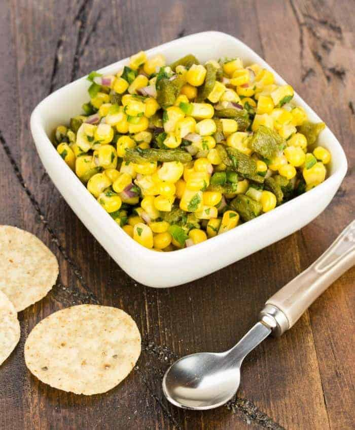 Almost-Chipotle's Corn and Roasted Poblano Salsa