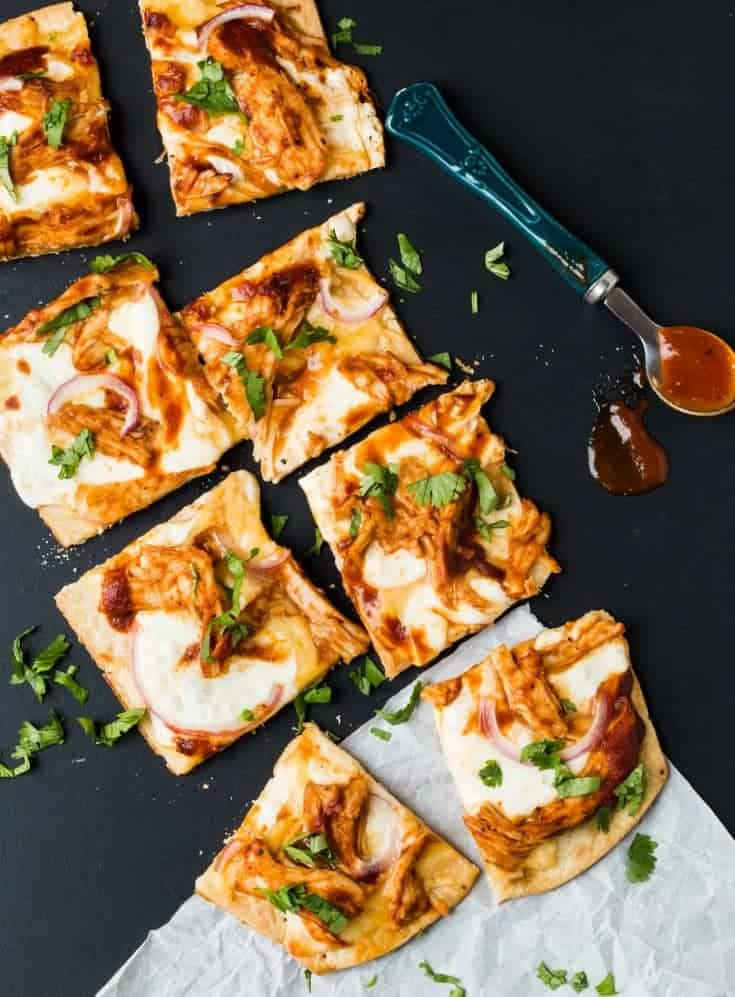 BBQ Turkey Flatbread