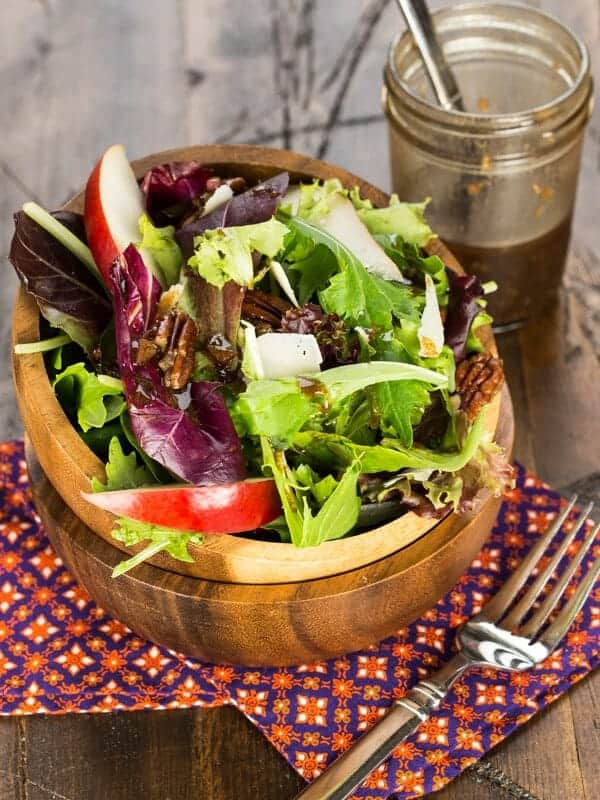 Fall Salad with Pears and Candied Pecans