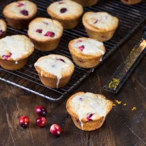 Glazed Cranberry Orange Muffins