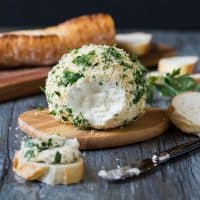 Parsley and Panko Crusted Goat Cheese Ball