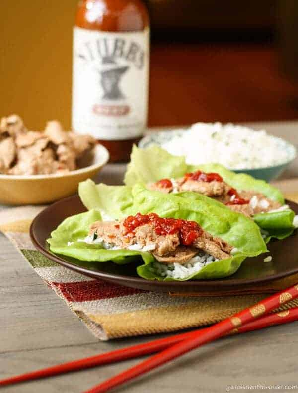 Pork Tenderloin Lettuce Wraps