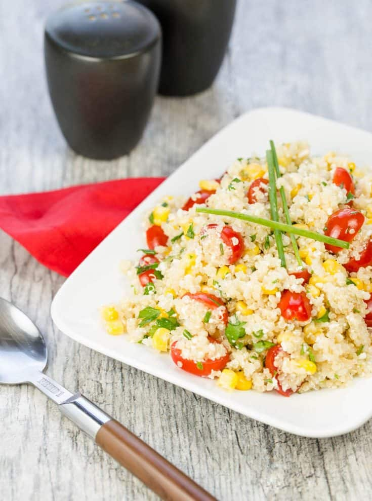 Quinoa, Corn and Tomato Salad with Cotija Cheese