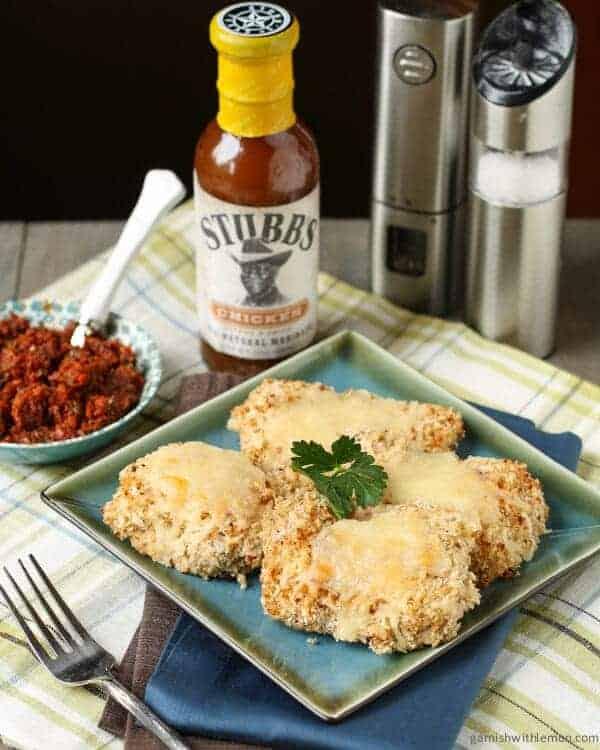 Stubb's Panko Parmesan Chicken Sun-Dried Tomato and Caper Tapenade
