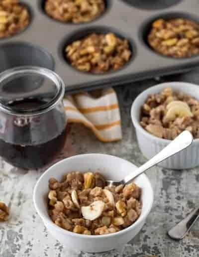 Banana Nut Baked Oatmeal Cups