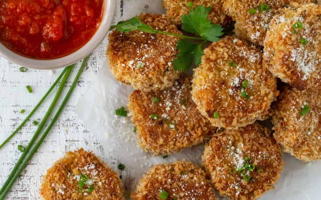 Baked Fontina Chive Risotto Cakes