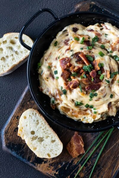 Warm Gruyere, Bacon and Caramelized Onion Dip