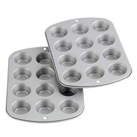 Wilton Recipe Right Non-Stick Mini-Muffin Pan, 12-Cup (2-Pack)
