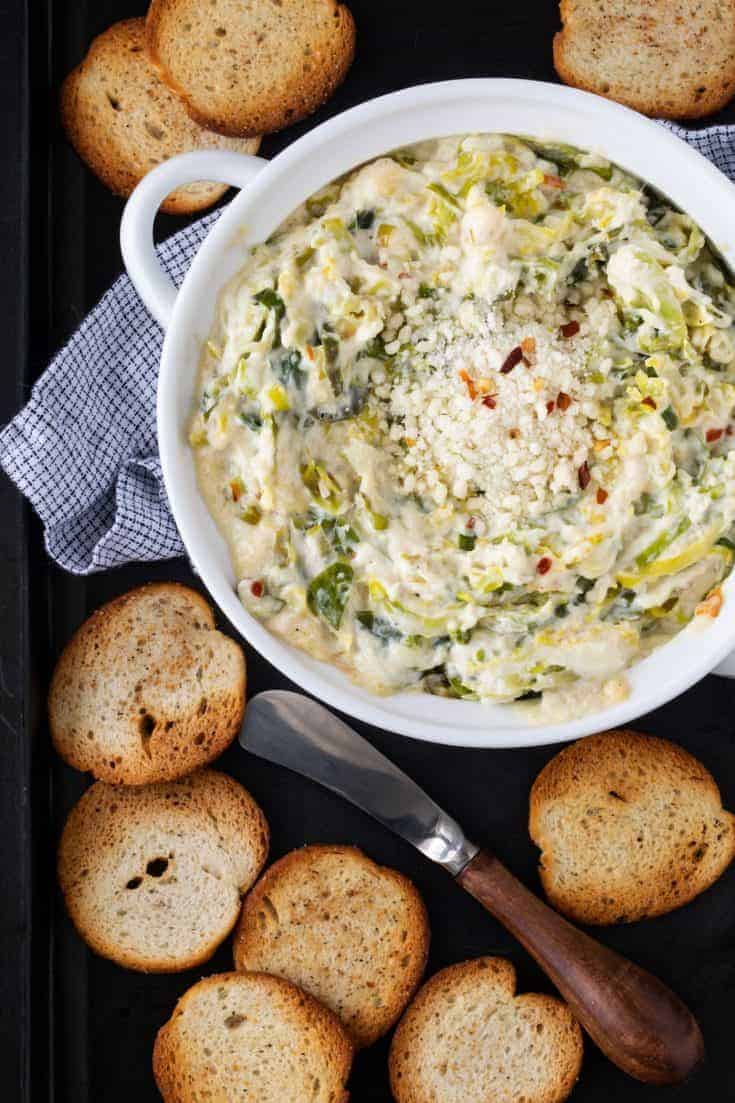 Hot Cheesy Brussels Sprouts Dip