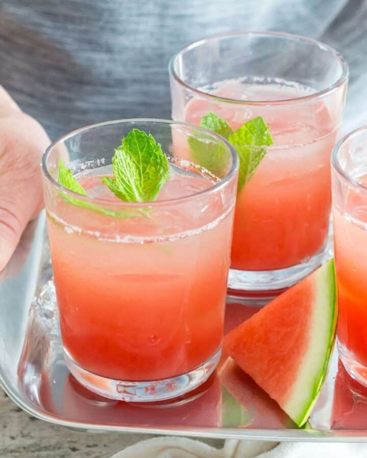 watermelon gin punch featured image