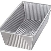 USA Pan 1145LF Bakeware Aluminized Steel 1 ¼ Pound Loaf Pan, Medium, Silver