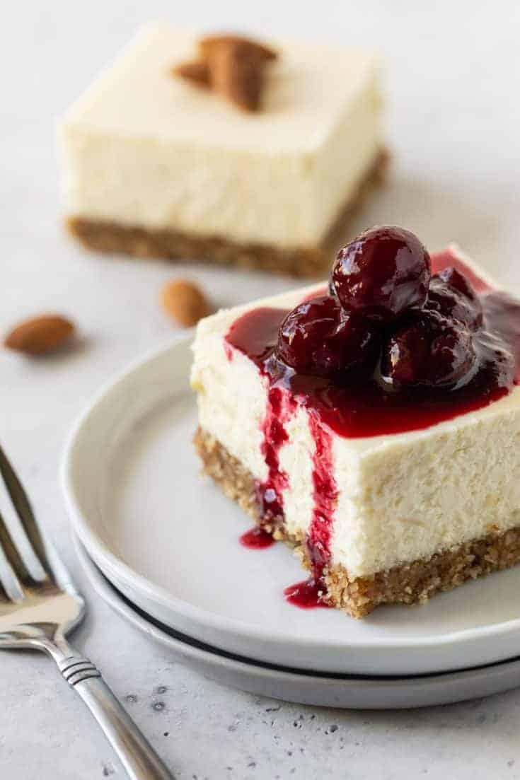 Gluten-Free Cherry Almond Cheesecake Bars