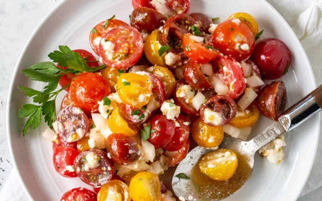 Tomato, Feta and Vidalia Onion Salad