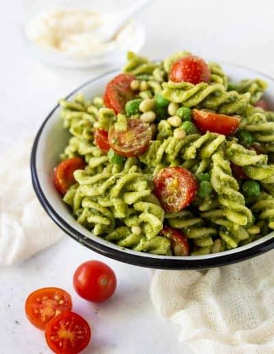 Pesto Pasta Salad with Peas
