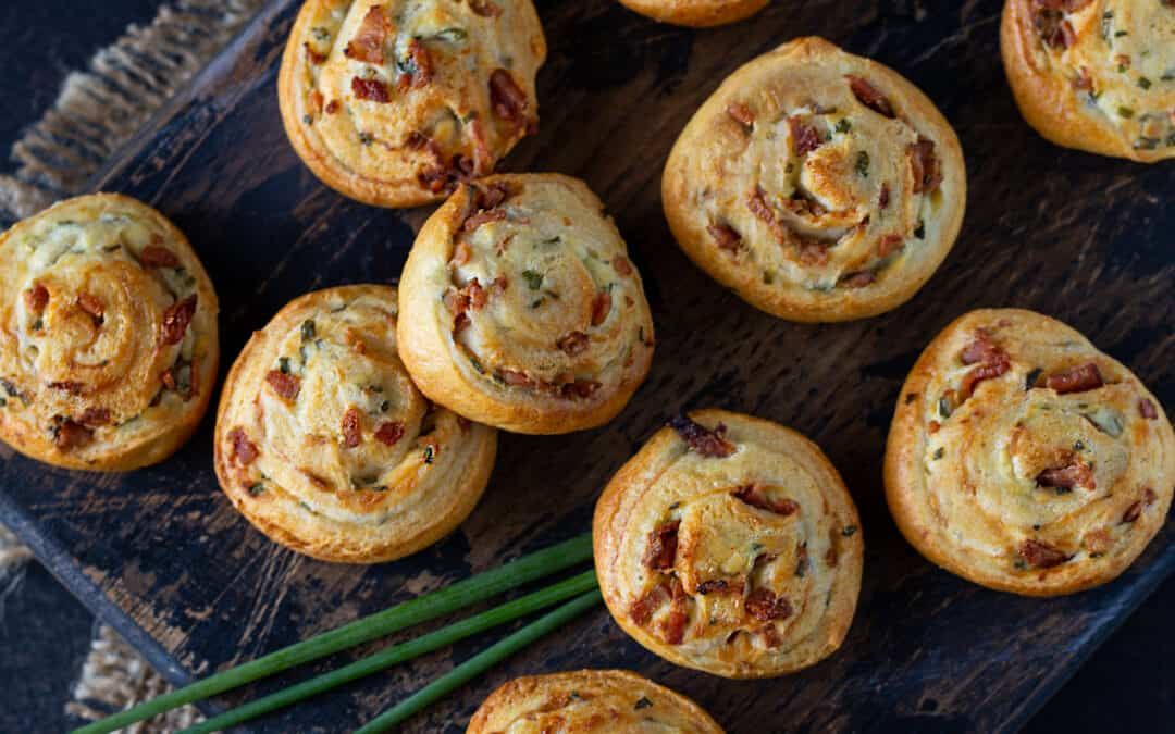 Bacon Cream Cheese Crescent Roll Appetizers