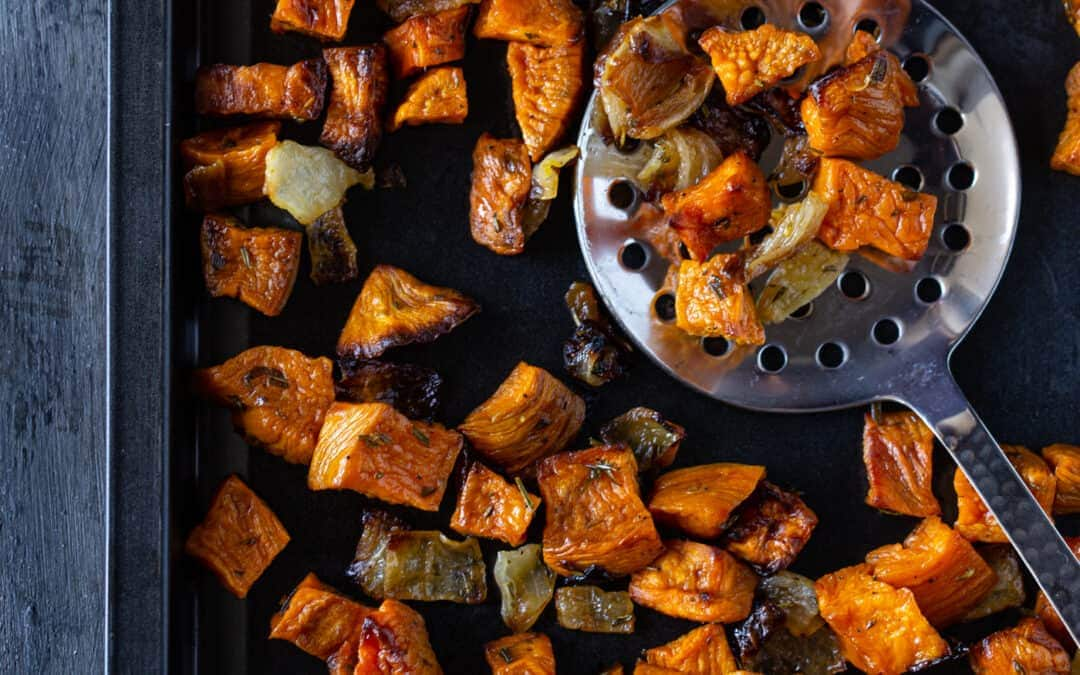 Rosemary Roasted Sweet Potatoes and Onions