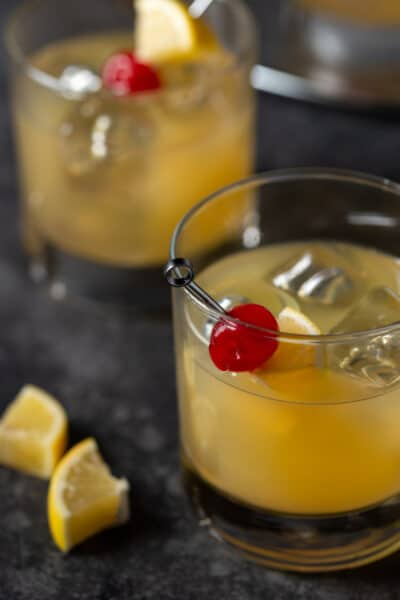 Meyer Lemon Whiskey Sour recipe