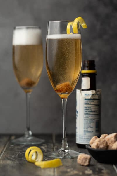 4-ingredient Classic Champagne Cocktail recipe