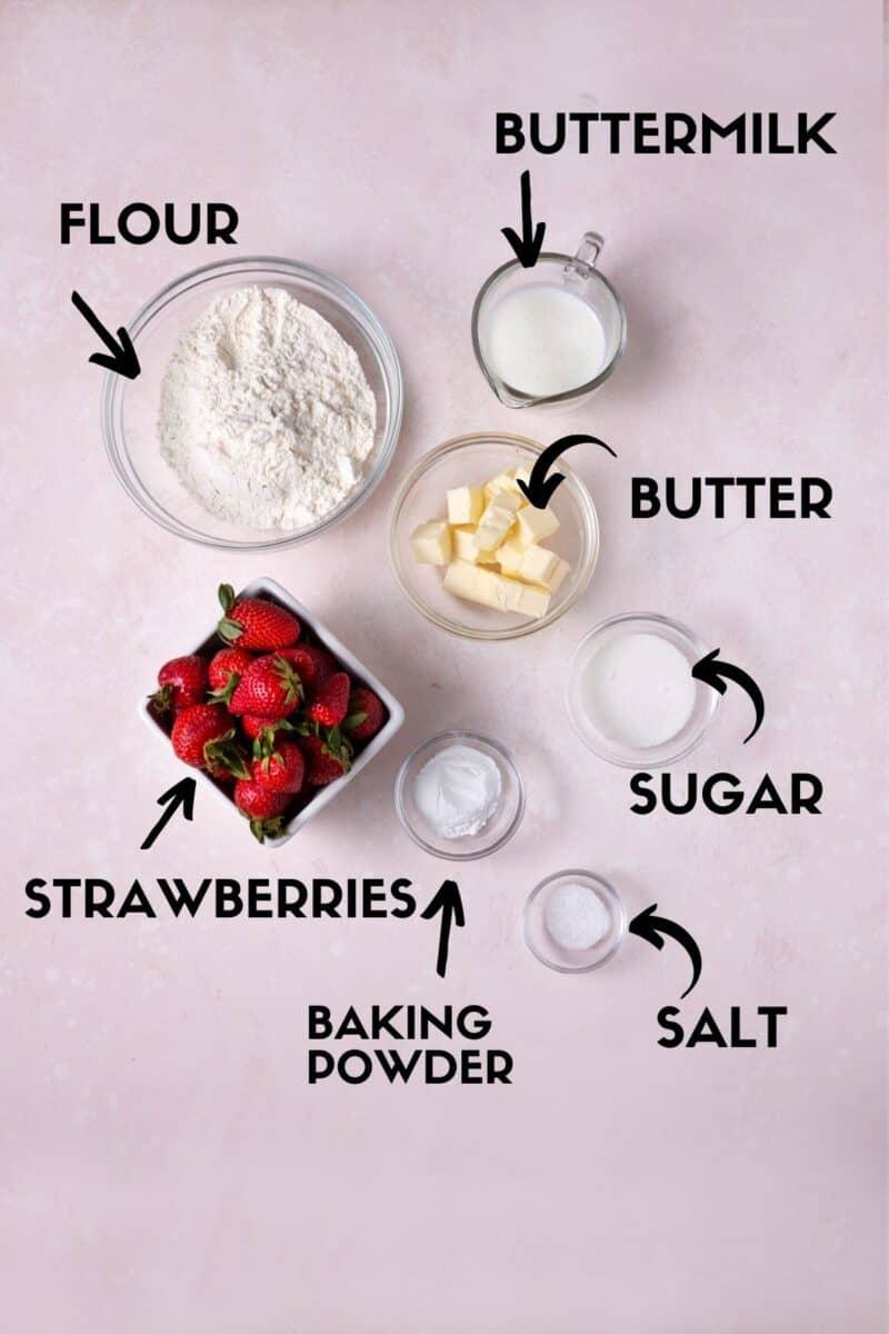 Strawberry shortcake ingredients