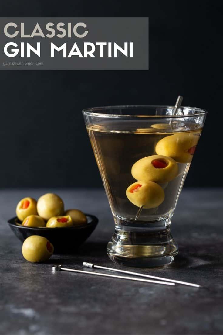 pinterest image for gin martini