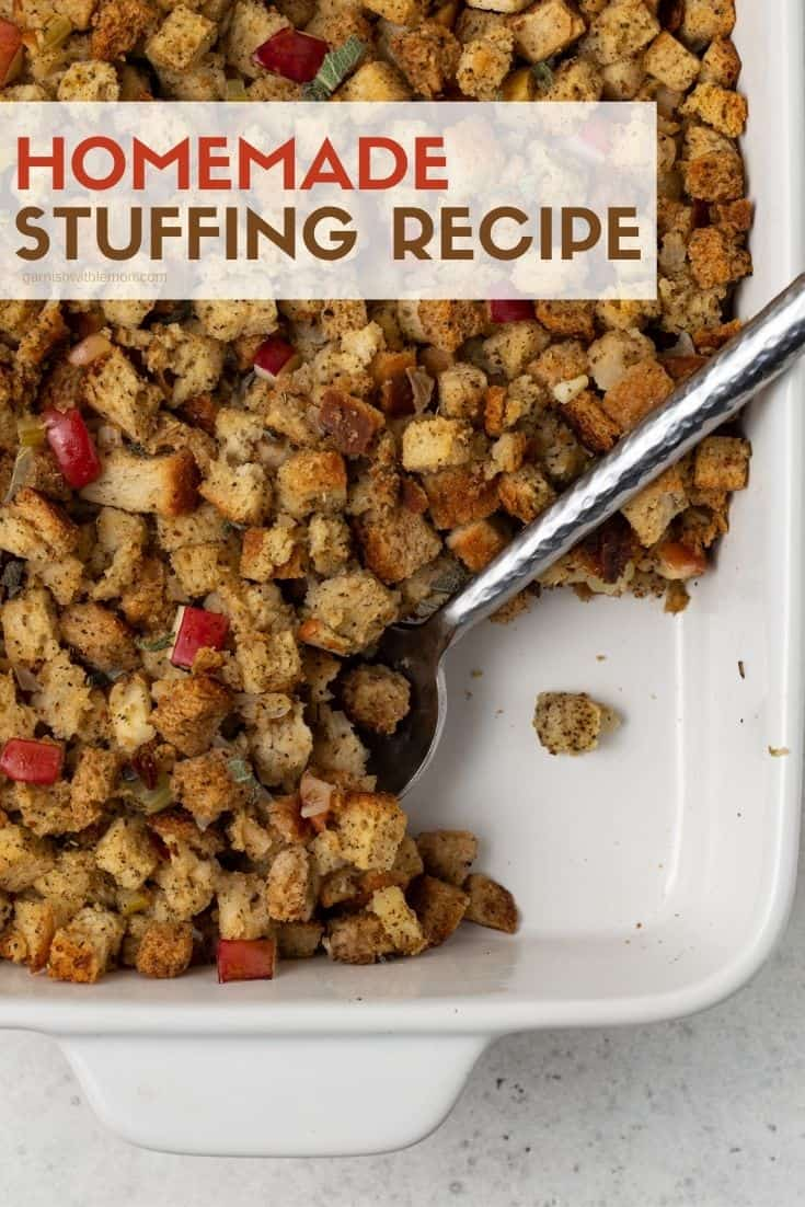 A plate of food, with Stuffing and Thanksgiving