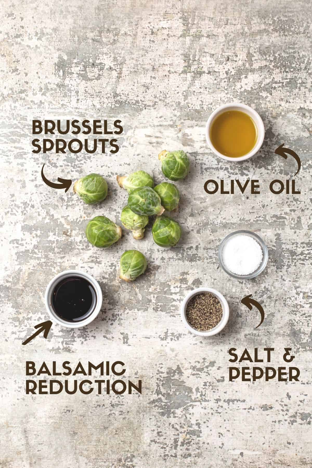 A close up of Brussels sprouts ingredients.