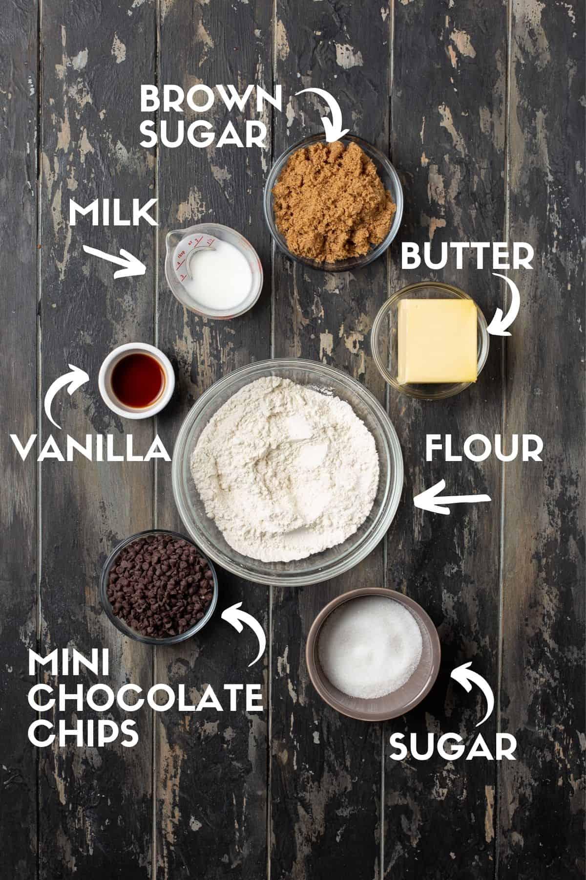 Truffle ingredients on a dark wooden board.