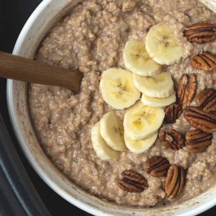 Slow Cooker Steel Cut Oats with Bananas