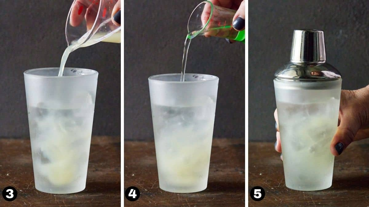 steps 3-5 for pear martini.